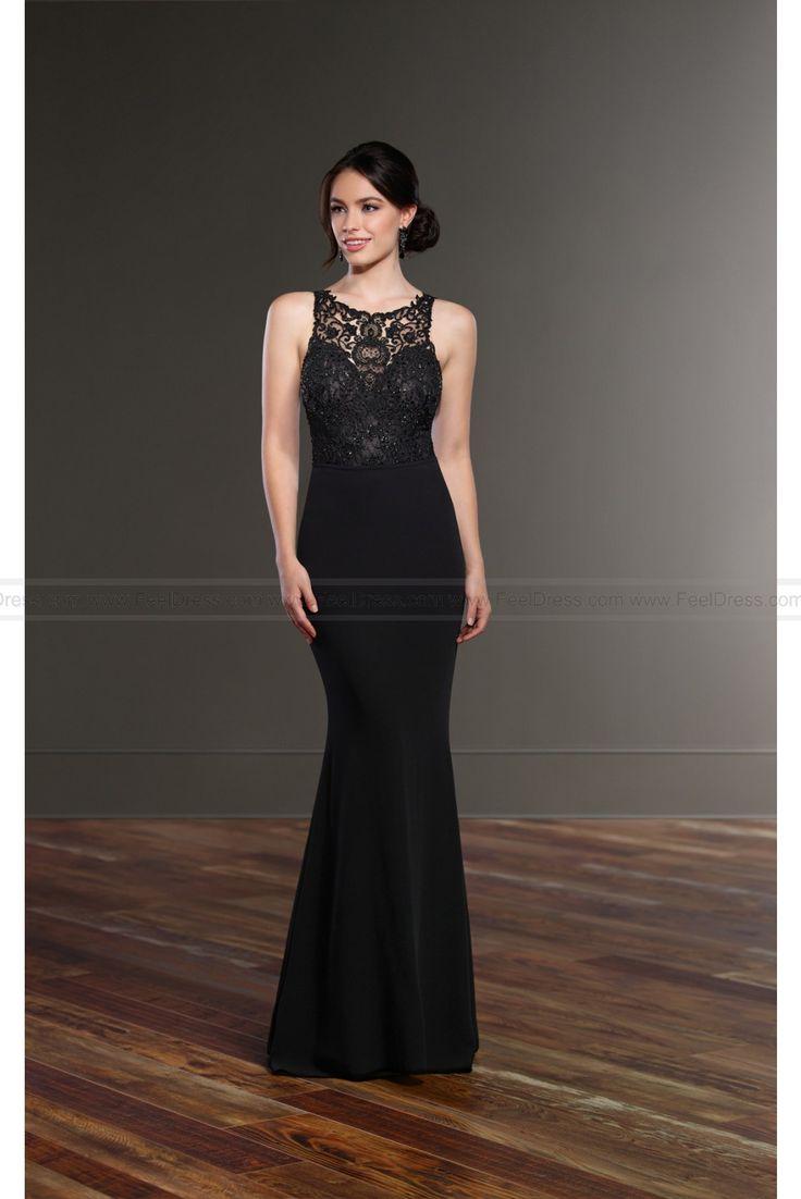 Martina Liana Black High Neck Wedding Dress Separates Style Brody + Sanja