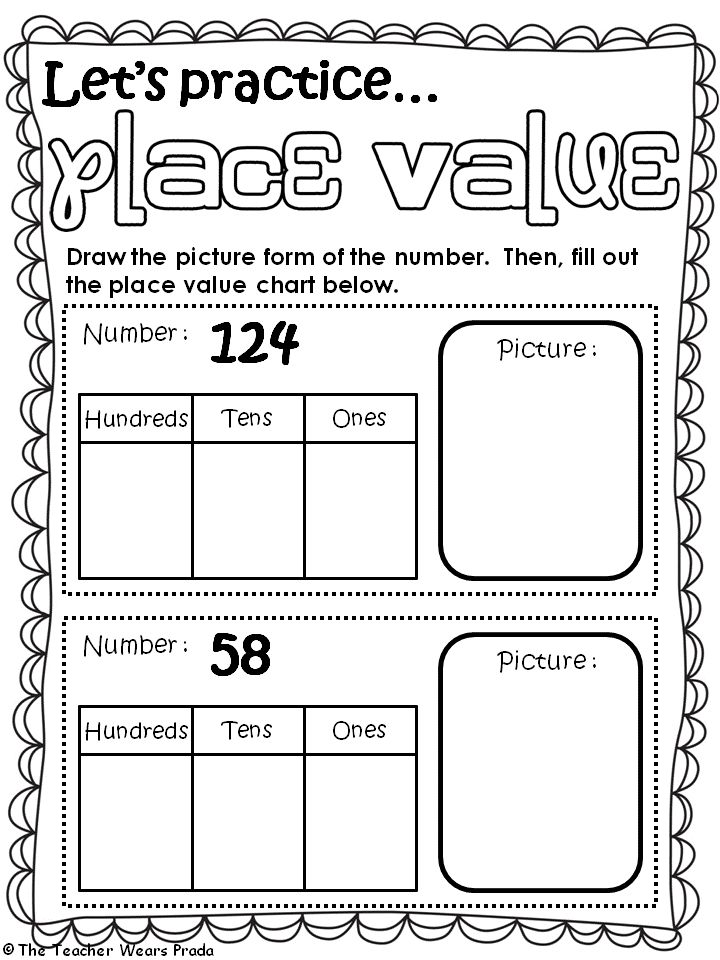 Place Value Worksheets 2nd Grade Second Grade Place Value