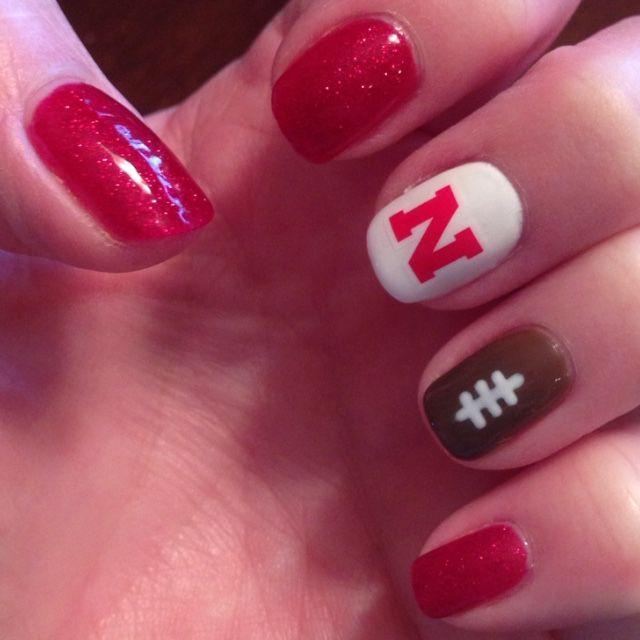 Nebraska Huskers Football Nails I Ve Prettied In 2018 Pinterest And Nail Designs