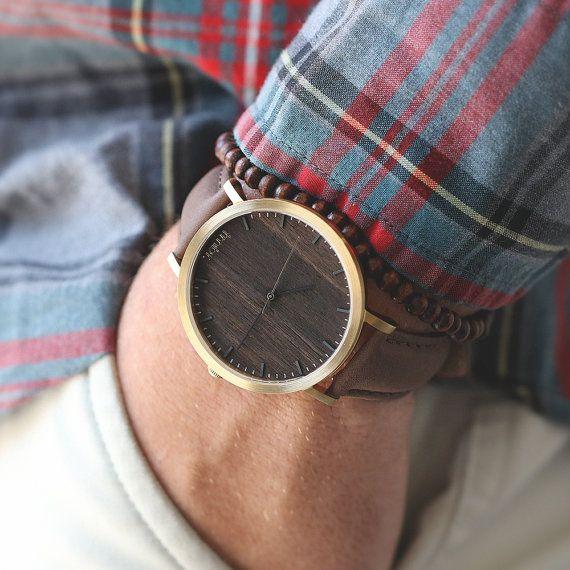 Gravure personnalisée, montre, montre en or bois noyer, MSTC-HELM-WG - montre…