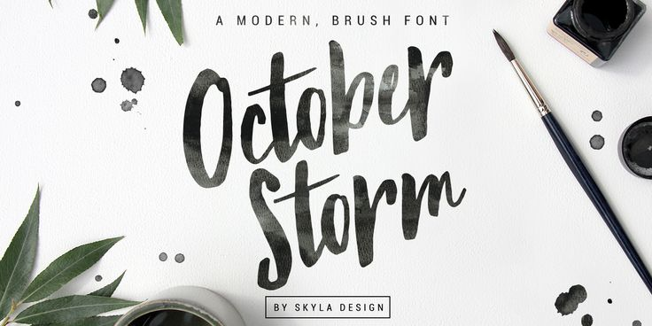 Check out the October Storm font at Fontspring. October Storm is an edgy, modern brush font which is waiting to be used for your next project!