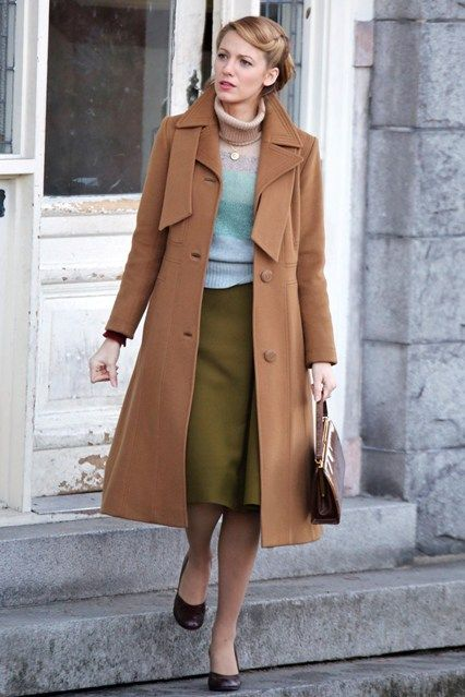 "Blake Lively - filming ""The Age Of Adaline"" on location in Vancouver, Canada. Love her style!"