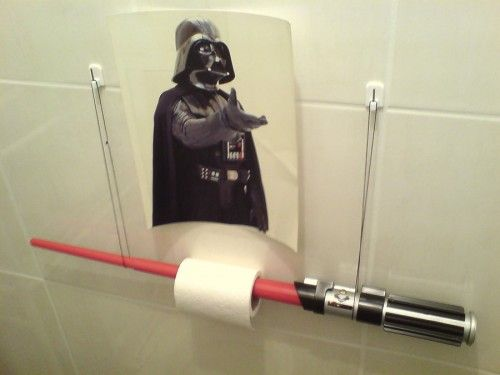 The Empire Strikes Crack: Lightsaber Toilet Paper Holder «Craziest Gadgets.  Find This Pin And More On STAR WARS BATHROOM ...
