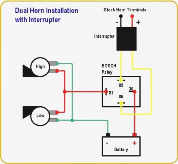 17 car horn relay wiring diagram  car diagram  wiringg