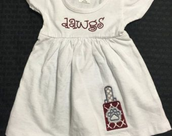 Mississippi State Bulldogs; MSU game day dress; Tailgate baby dress; Cowbell dress