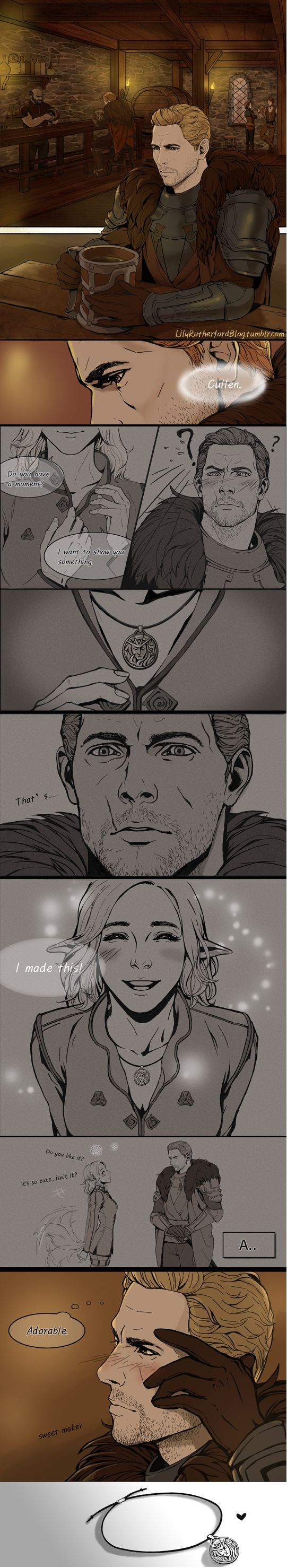 Cullen & Inquisitor - He's got it bad. #HelloCommander