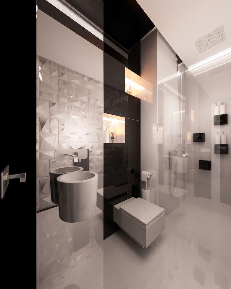 Czarno-biała elegancka toaleta dla gości