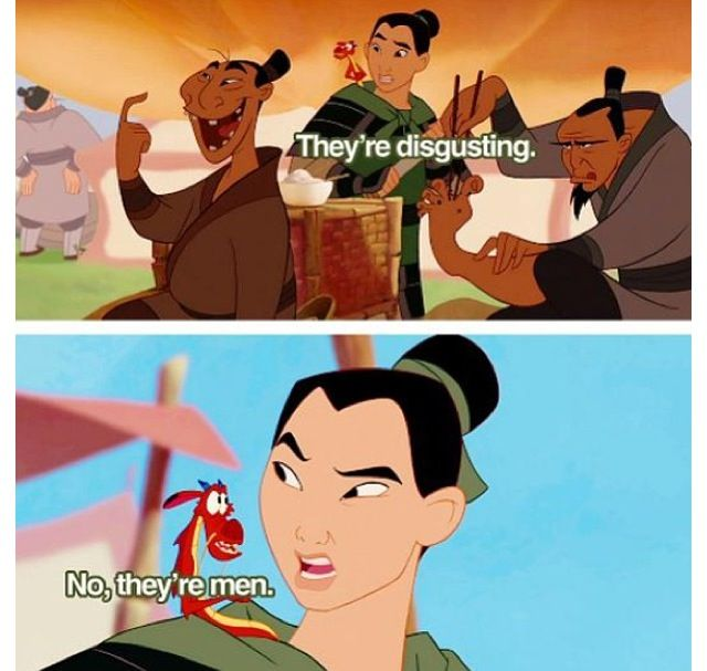 Day 23: Made you laugh. Mulan. Duh. What isn't funny about this movie. It's fantastic.