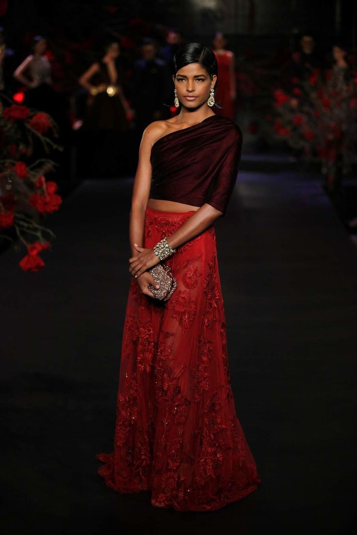 10 Blouse Styles For The Bride Who Wants To Show A Little Skin Bridal LehengaIndian AttireDesigner WearWedding