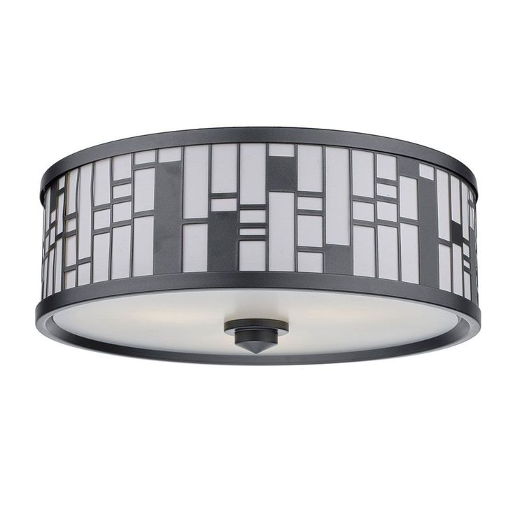 Flush Ceiling Light Bedroom Drum flush mount lampSamantha Linen