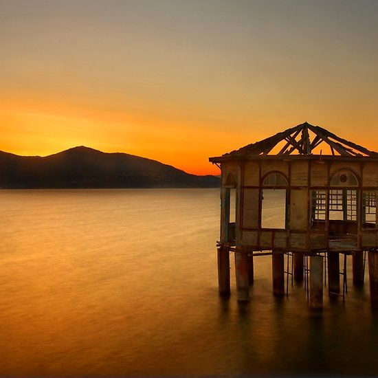 Macedonia Timeless - Sunset of the forgotten pavillion - northern Greece