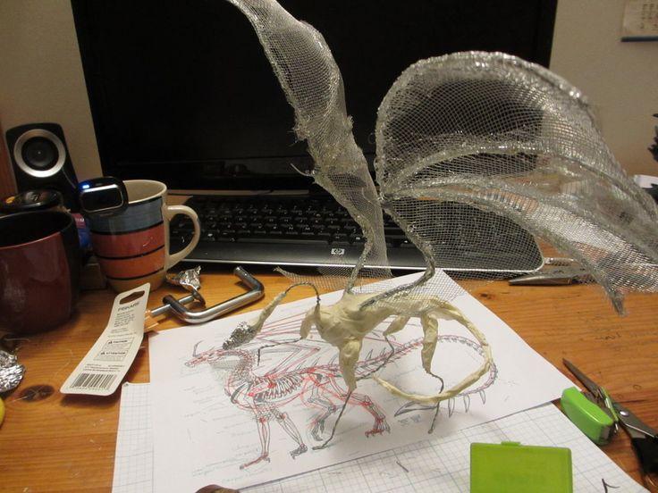 Dragon WIP 1 - Armature! by Dragina-Draona.deviantart.com on @DeviantArt