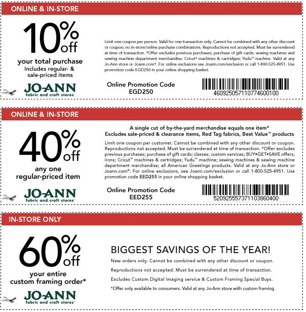 Joann sewing class coupons