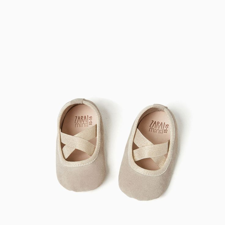 LEATHER BALLET FLATS WITH EDGING-NEW IN-MINI | 0-12 months-KIDS | ZARA United Kingdom