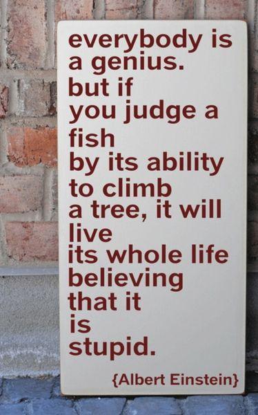 .Thoughts, Remember This, Inspiration, Judges, Fish, So True, Albert Einstein Quotes, Albert Einstein, Favorite Quotes
