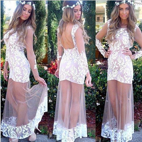 Платье, vestidos женщины лето длинная вечернее платья обнажённый кружево Elegent платья кружево пэчворк длинная с низким вырезом на спине вечернее платья