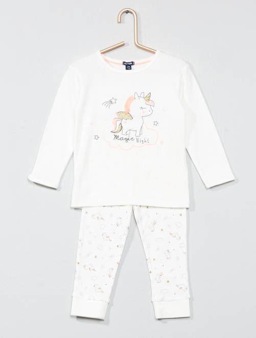 df9aef96d094a Pyjama animation licorne écru Bébé fille - Kiabi