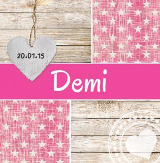 Geboortekaartje - Demi Lief en stoer tegelijk