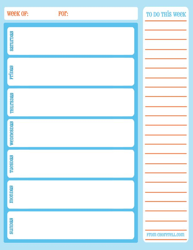 11 best Free Printables for Organizing! images on Pinterest Free - daily task calendar template