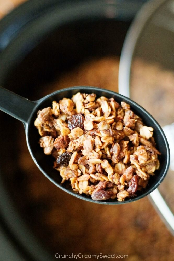 Nutella and Pumpkin Granola baked in a Slow Cooker - your new favorite way to make delicious granola! You will love the combination of pumpkin and Nutella!