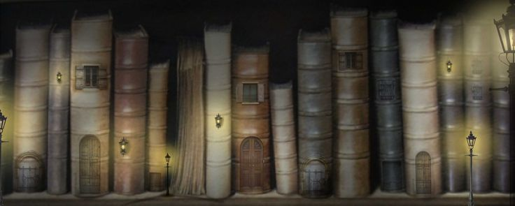 Photoshop creation of existing pictures and things I found on the internet by an Idea I found on pinterest, I just can't find the creators name anymore! Old Books Vilage
