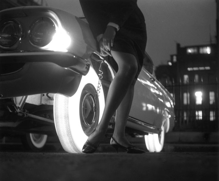 In 1961, Goodyear released a tire that used mounted light bulbs in the wheel rim to make the tires glow in the dark but they never went into production.