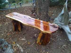 natural log benches | Bench. Natural Cedar Wood. Natural Wood Bench. Cedar Wooden Bench ...