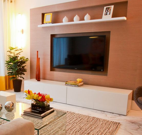 Living Room With Tv: 1000+ Ideas About Shelf Above Tv On Pinterest