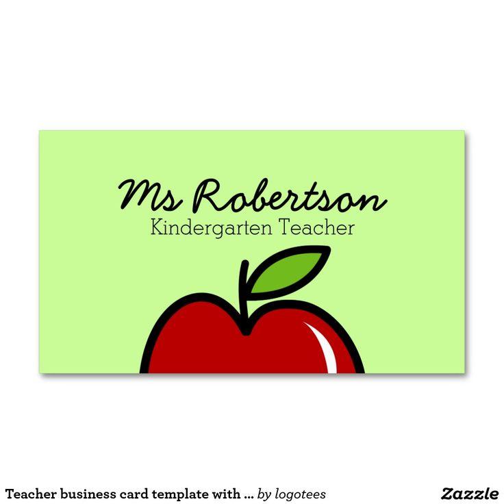 13 Teacher Business Cards Templates Free (1) | Business Card