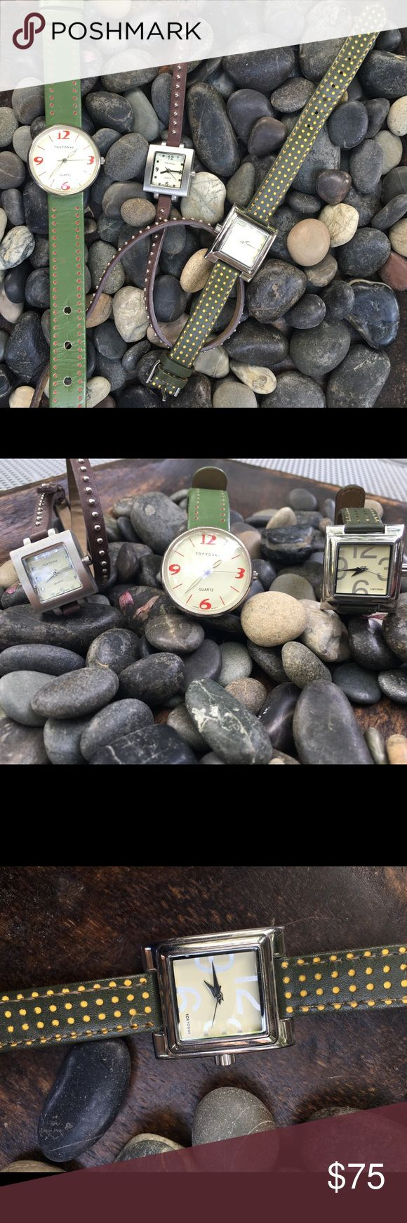 Set of 3 Tokyo Bay watches A fun mix of watch styles from Tokyo bay. All in good condition. Tokyo Bay Accessories Watches