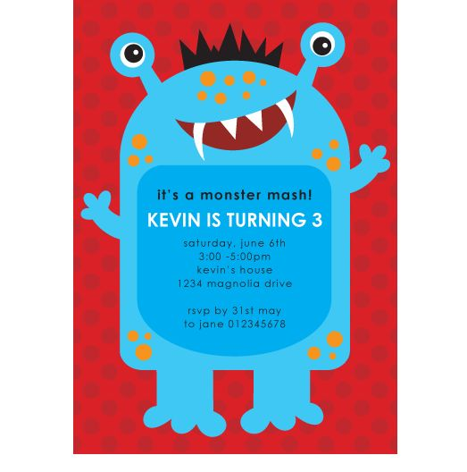 monster party invites