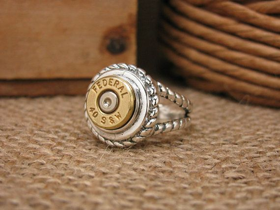Bullet Casing Jewelry Sterling Rope Embellished by thekeyofa