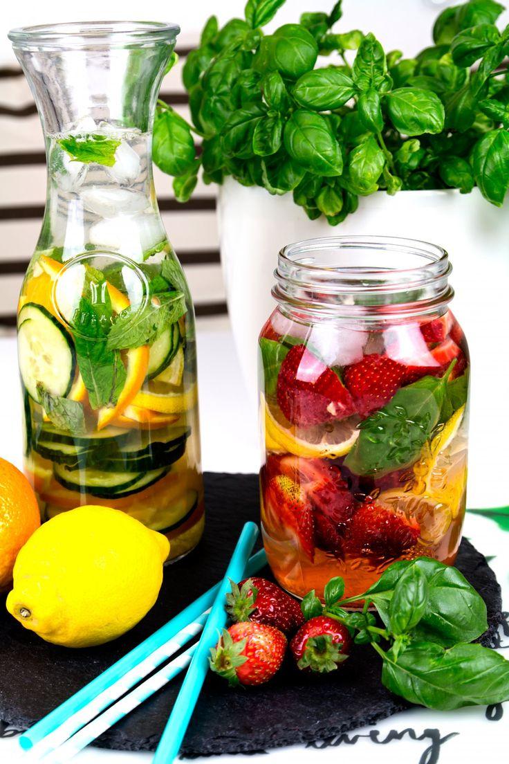 Kleidermädchen, Infused Water, Erdbeere, Basilikum, Zitrone, Minze, Orange, Gurke, Fruchtwasser, Detox, Food, Rezept, Blogger, Fashionblogger