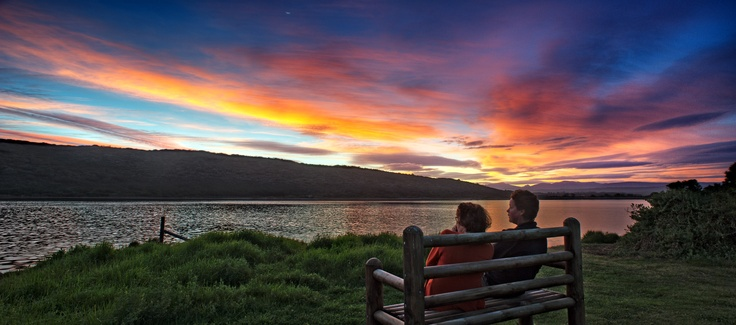 Sunset chat. Sedgefield. Garden Route