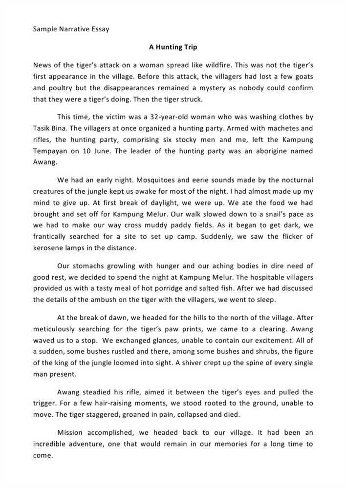 a good descriptive hunting essay The best part about descriptive essays is that they can be about pretty much anything, from persons, to places, animals, or even events and much more what makes a good descriptive essay is not so much about what you write (even though that is plenty important) but more about how you go about.