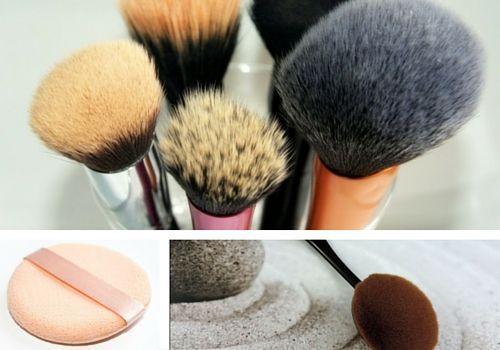 pinceaux et  éponges pour appliquer le fond de teint #conseil #couvrance #fonddeteint #léger #couvrant #beauté #maquillage #pinceaux #éponges #pour #appliquer #monvanityideal