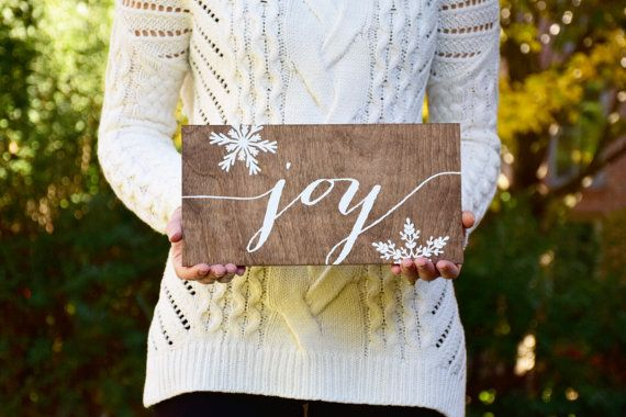 Christmas Signs Joy  Christmas Sign  Wood Sign  by PaperandPineCo