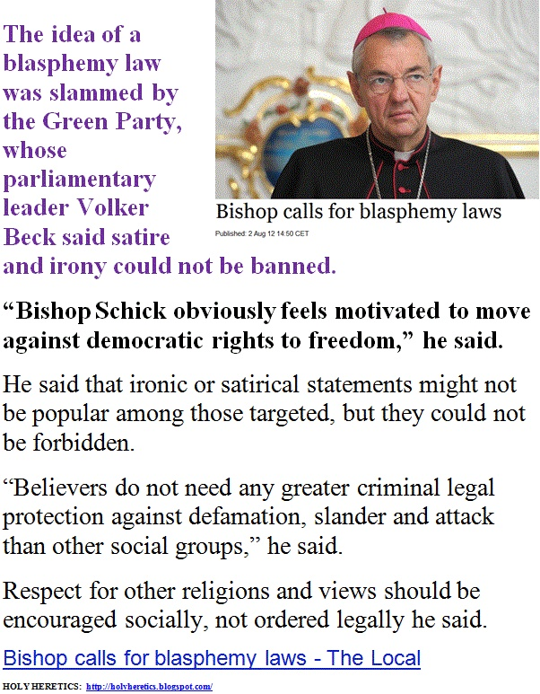 "Bishop calls for blasphemy laws - ""Islam is not the problem, religion is""   -   Pat Condell.   > > > > Click image for video!"