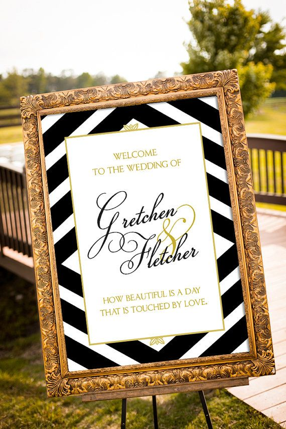 mr and mrs Wedding Signs, Black & Gold Party Decor, Custom Wedding Sign Printable, Art Deco Wedding, Wedding Welcome Sign