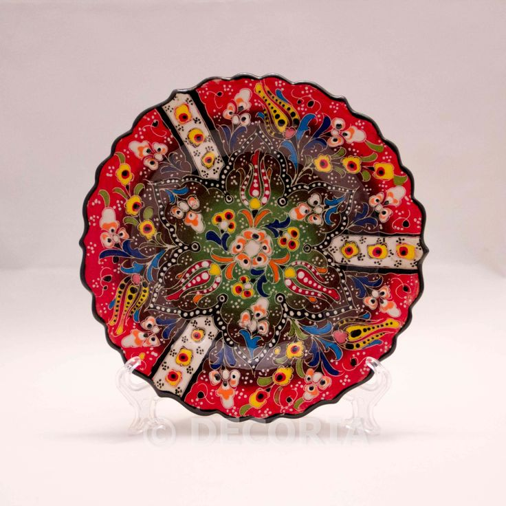 Small Plate - Red & Green - DECORIA HOME & GIFT