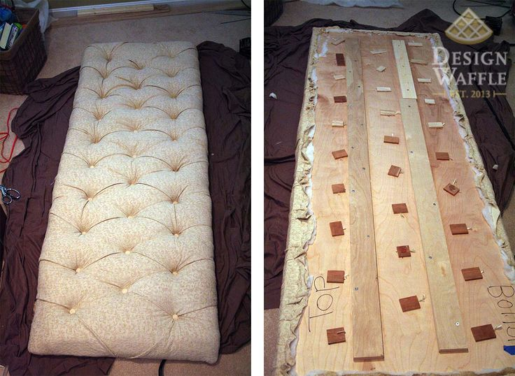 DIY tufted headboard but has basic tuft instructions for anything!