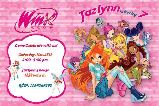 Winx Club Birthday Invitations