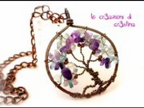 Tree of Life Pendant - A Wire Wrap Tutorial - YouTube