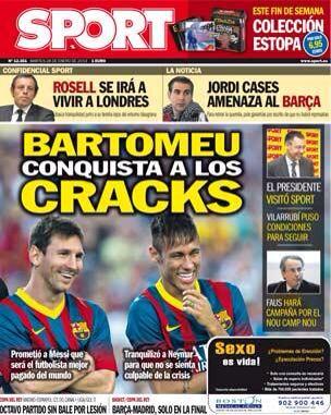 #Portada SPORT martes 28 de enero 2014 #FCBarcelona #Barça #Barcelona #igersFCB