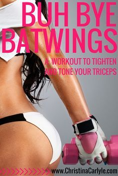 Batwing workout - 5 tricep exercises to help you tighten and tone your triceps.