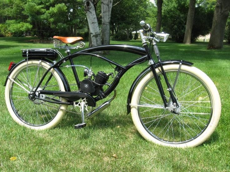 "Custom Motored Bicycles - 26""TIRES RED BRICK & WHITE"