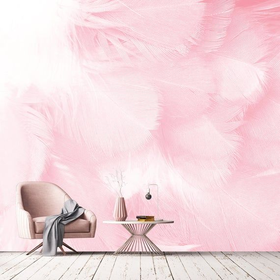 Materials Smooth Finish Vinyl Pure Canvas Peel And Stick Self Adhesive And Easy To Apply On Walls Manuf Bohemian Wallpaper Removable Wallpaper Feather Wall