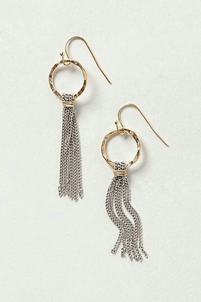 Sue - great way to use the silver hoops and chain you already have if it's fine enough to construct the tassel