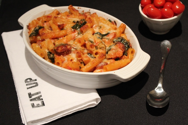 baked pasta with chicken sausage | recipes | Pinterest