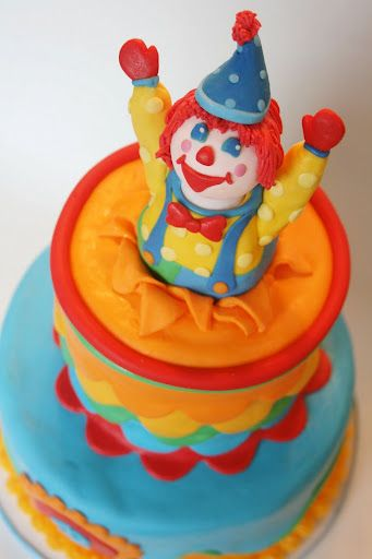 cute clown cake